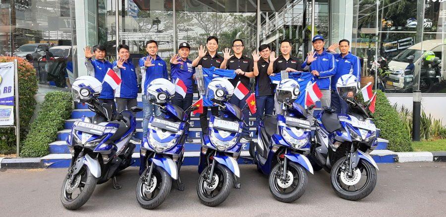 5 Rider Yamaha Vietnam Sambangi Jakarta