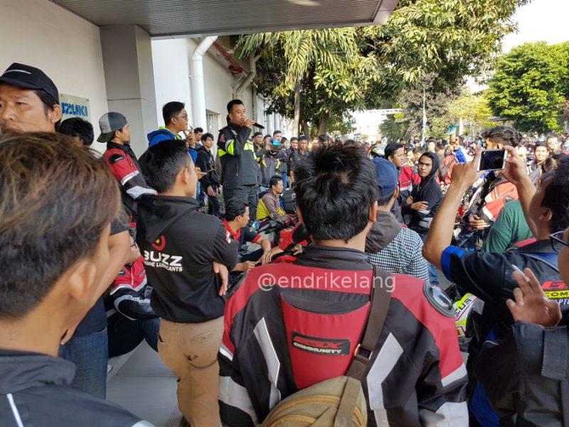 Sambutan Kepolisian sebelum Sunmori Suzuki